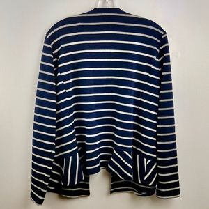 Jane and Delancey Sweaters - Jane and Delancey Ruffle Hem Striped Cardigan XL